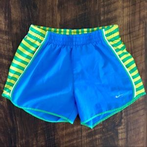 Nike Dri-Fit Striped Tempo Running Shorts w/ Liner
